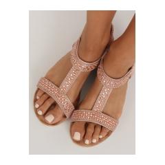 Dámske ružové sandále - HT-67
