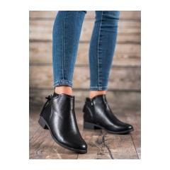 Dámske čierne členkové topánky  - PE196B