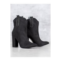 Dámske čierne kovbojky - 1575-1B