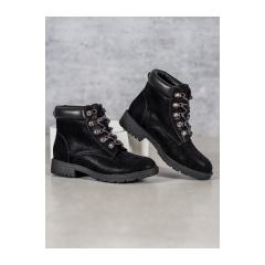 Dámske čierne workery  - 2223-1B