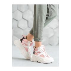 Dámske bielo ružové tenisky  - LV95-4P