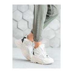 Dámske bielo strieborné tenisky  - LV95-6S