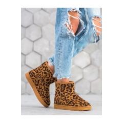Dámske leopardie snehule - 7602LEO/C