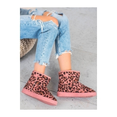 Dámske ružové leopardie snehule - 7602LEO/P