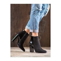 Dámske čierne členkové topánky  - K6291-1B