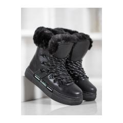 Dámske čierne snehule - BK903B