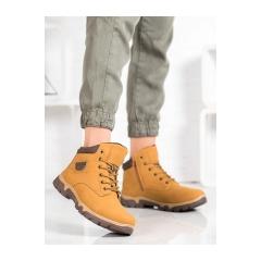Dámske hnedé trekingové topánky MCKEYLOR - OCA19-2135Y