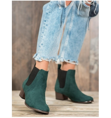 Dámske zelené členkové topánky - K1938603VE