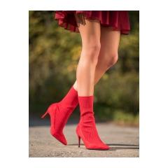Dámske červené členkové topánky - T5033R