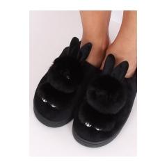 Dámske čierne šľapky - MA01