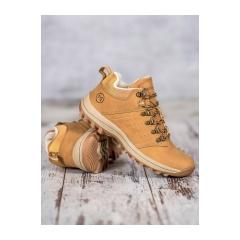 Dámske hnedé členkové topánky MCKEYLOR  - PMS20-14006Y