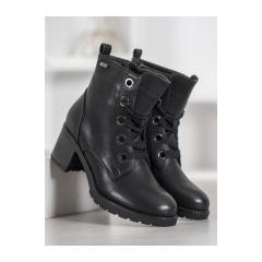 Dámske čierne členkové topánky  - ZN-87B