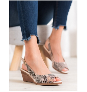 Dámske farebné sandále na kline  - SK811-10BE