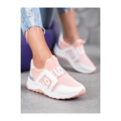 Dámske bielo ružové tenisky LOVE - NB336P