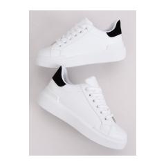 Dámske biele tenisky - 85-428