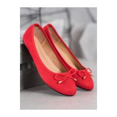 Dámske červené balerínky  - 9F115R