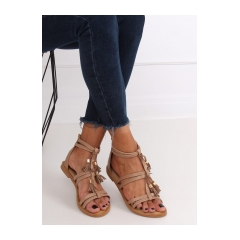 Dámske béžové sandále - JN806