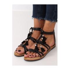 Dámske čierne sandále - JN806