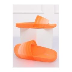 Dámske oranžové šľapky - K-9183