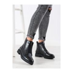 Dámske čierne členkové topánky  - BT519B