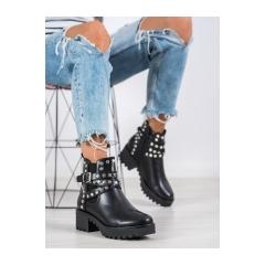Dámske čierne členkové topánky  - NC1081B