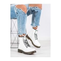 Dámske biele členkové topánky - NC1019W