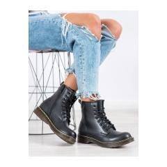 Dámske čierne členkové topánky  - NC1019B