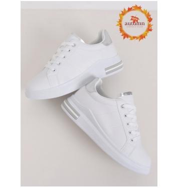 Dámske bielo šedé tenisky - LG20