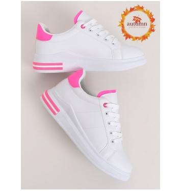Dámske bielo ružové tenisky - LG20