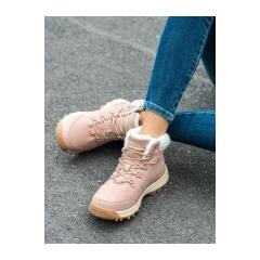 Dámske ružové trekingové topánky  - BM9113-9P
