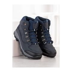 Dámske modré trekingové topánky  - 8TR85-0549N