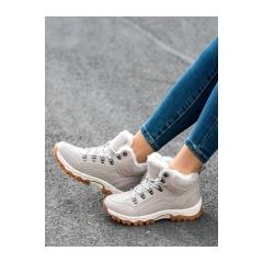 Dámske khaki trekingové topánky  - BM9211-6KH
