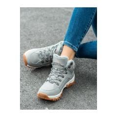 Dámske šedé trekingové topánky  - BM9211-4G