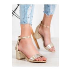 Dámske zlaté sandále - M308GD