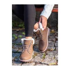 Dámske hnedé trekingové topánky - BM9264KH