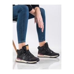 Dámske čierne trekingové topánky  - BM9098B