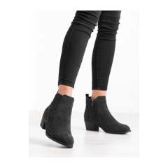 Dámske čierne členkové topánky  - 2411B