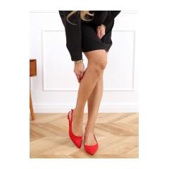 Dámske červené balerínky - MM-801