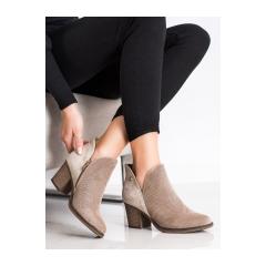 Dámske béžové členkové topánky - DBT2075/21BE