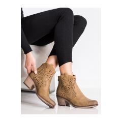 Dámske hnedé členkové topánky - BT152COF