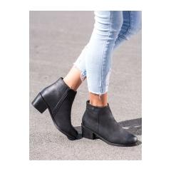 Dámske čierne členkové topánky - GD-DS-04B/B