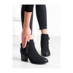 Dámske čierne členkové topánky  - 20Y8134B