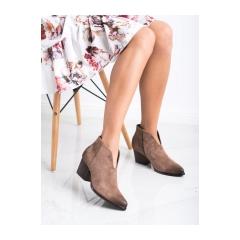 Dámske hnedé členkové topánky  - XY21-10542D.BE