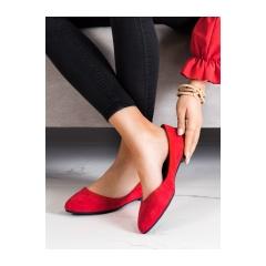 Dámske červené balerínky  - BL622R