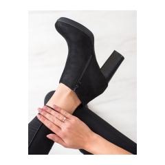 Dámske čierne členkové topánky  - 9571B