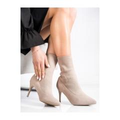 Dámske jarné béžové členkové topánky  - IMG-0410T