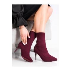 Dámske jarné bordové členkové topánky  - IMG-0410BUR