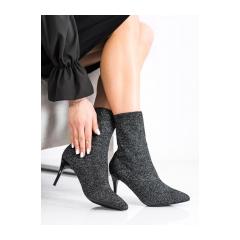 Dámske jarné čierne členkové topánky  - IMG-0410B