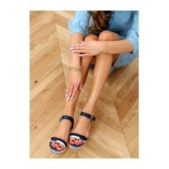 Dámske modré sandále - A89832