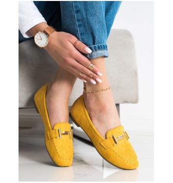 Dámske žlté mokasíny - 88-383Y